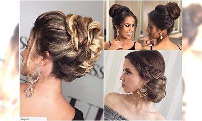 Fryzury na wesele dla świadkowej, druhny, gości - eleganckie upięcia z długich włosów