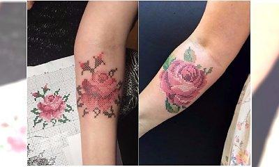 Cross-stitch tattoos - haftowane tatuaże. Gorący TREND dla wielbicieli oryginalnych wzorów