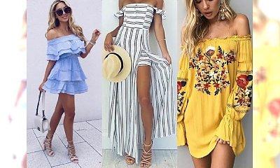 Najpiękniejsze sukienki z odkrytymi ramionami na lato 2017 - same perełki