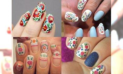 13 ślicznych stylizacji manicure inspirowanych folklorem  - propozycja idealne na lato