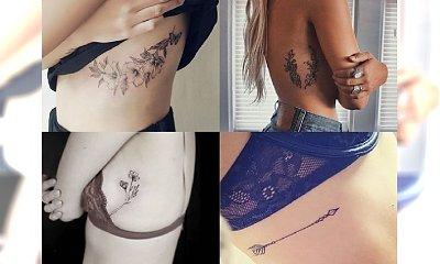 Śliczne i seksowne tatuaże dla kobiet w okolicach żeber