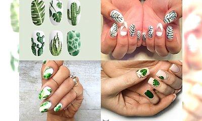 Stylowe paznokcie z motywem egzotycznych liści - galeria fantastycznych inspiracji
