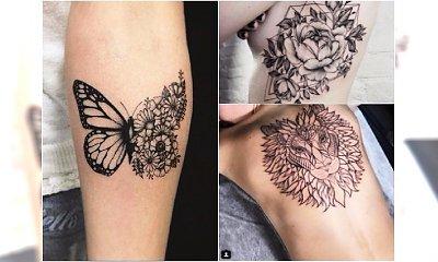 Czarne tatuaże -  piękne, unikatowe wzory dla kobiet