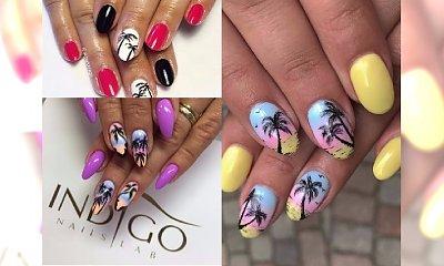 Manicure 2018: Marzysz o wakacjach, ale jeszcze nie dostałaś urlopu? Paznokcie z palmami cię urzekną!