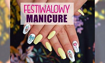 Dziewczęcy manicure festiwalowy - tutorial