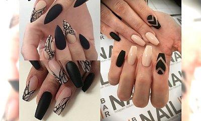 Wasze ulubione połączenie, czyli BLACK & NUDE manicure - galeria perełek