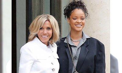Rihanna spotkała się z francuską parą prezydencką. Ale w co ona się ubrała?