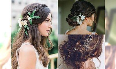 Śliczne upięcia ślubne dla panien młodych na jesień 2017