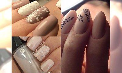 Beżowy i kremowy manicure ze zdobieniami - klasyka idealna na przełom lata i jesieni