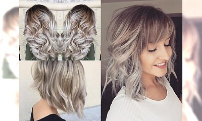 Śliczna koloryzacja dla blondynek z domieszką szarości - uwielbiamy tą opcję! Śliczne inspiracje