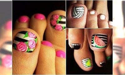 Wesołe wzory na paznokcie u nóg. Robimy kolorowy pedicure!