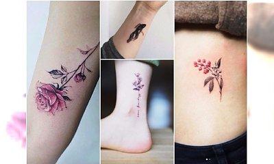 Delikatne małe tatuaże inspirowane naturą. Te motyw absolutnie urzekają!