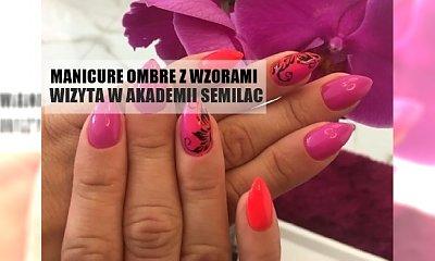 Pomarańczowo-fuksjowe ombre ze wzorkiem - tutorial by Kamila Nicpoń