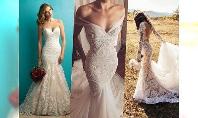 Najpiękniejsze suknie ślubne o fasonie rybki i syrenki na 2018 rok