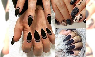 BACK TO BLACK! Nasze ulubione stylizacje paznokci z czernią w roli głównej