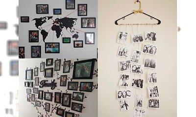 Odjazdowe pomysły na powieszenie zdjęć w pokoju - galeria ekstra inspiracji