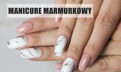 Manicure z motywem marmurkowym - zobacz, jak go wykonać!