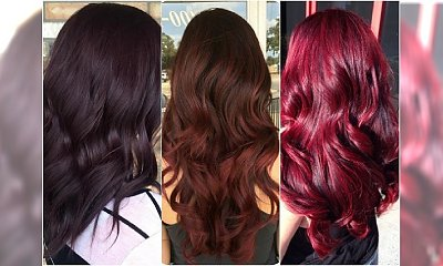 Modne kolory włosów na jesień: cherry chocolate, bakłażan, merlot. Zakochacie się w tej koloryzacji!