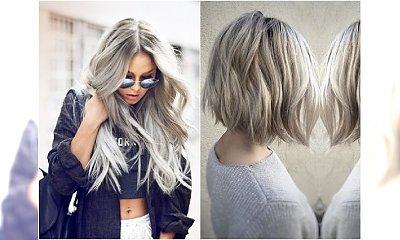 Popielata koloryzacja dla blondynek - galeria, która przekonaja Cię, że to kolor warty grzechu