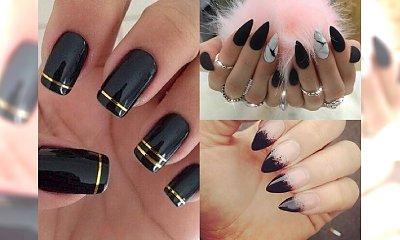 BLACK MANICURE : najpiękniejsze stylizacje paznokci z czernią w roli głównej
