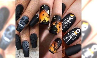 Manicure na Halloween 2017: Trupie czaszki, pająki, nietoperze i kościotrupy. Zobacz galerię!