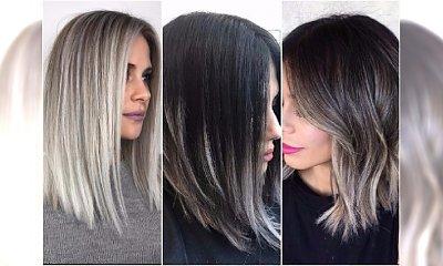 Kolory włosów idealne na zimę. Wypróbuj niebanalną koloryzację: białe ombre, słony karmel i popiele