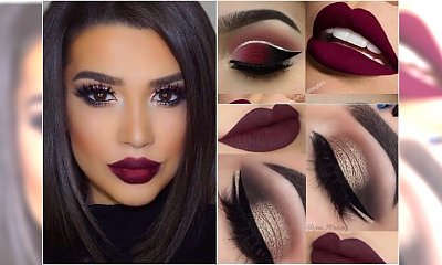 Makijaż z ciemnymi ustami - gorący trend jesieni. Przejrzyjcie najlepsze inspiracje!