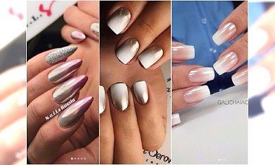 Nowe pomysły na elegancki ombre manicure: biel ze srebrem, babyboomer i lustrzane lakiery