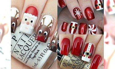 Przepiękne propozycje na mikołajkowy manicure! Najlepsze inspiracje z sieci