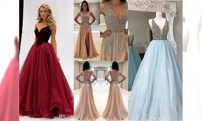 Piękne suknie wieczorowe na bal sylwestrowy lub wesele zimą - obłędne propozycje!
