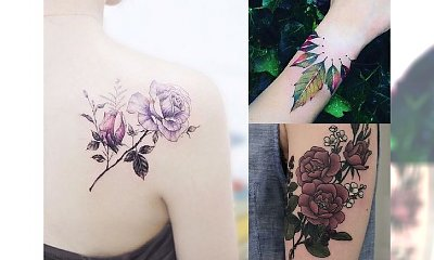 Kolorowe tatuaże - 17 najlepszych wzorów dla dziewczyn