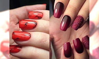 Piękny mani w odcieniach bordo i czerwieni - nasza galeria perełek na koniec roku