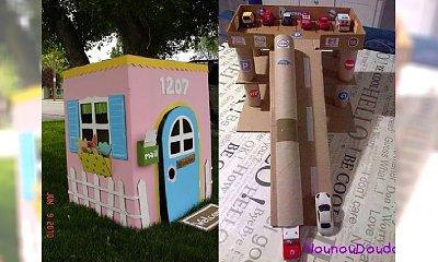 Genialne pomysły rodziców - zrobili dla swoich dzieci fantastyczne zabawki z KARTONU