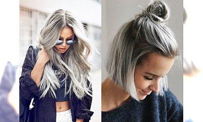 Galeria popielatych koloryzacji dla blondynek, które przekonają Cię, że to kolor warty grzechu!