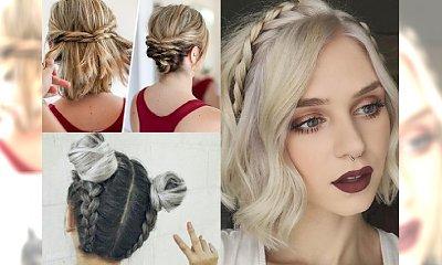 Śliczne, stylowe upięcia dla włosów do ramion i krótszych - galeria inspiracji z sieci