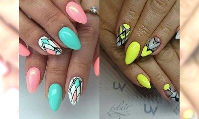 Odjazdowy manicure z geometrycznymi wzorami - te inspiracje totalnie Cię oczarują!