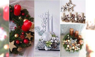 Stroik świąteczny ze świecą - 25 stylowych dekoracji na Boże Narodzenie