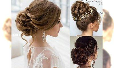 Ślubne fryzury, od których ciężko oderwać wzrok - najmodniejsze uczesania 2018!