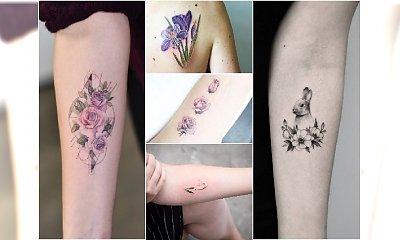 Małe i urocze tatuaże z wiosennymi motywami. DUŻO WZORÓW inspirowanych naturą!