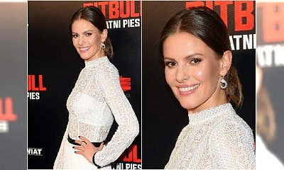 """Renata z """"Pierwszej miłości"""" - pamiętacie ją? Teraz została gwiazdą """"Pitbulla"""". Na premierze wyglądała jak rasowa modelka!"""