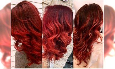 Nowy kolor włosów na wiosnę? Wypróbujcie intensywne czerwienie w wersji balejaż i ombre!