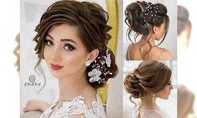 Galeria fryzur ślubnych: pomysły na piękne upięcia, koki, fryzury z kwiatami i innymi ozdobami