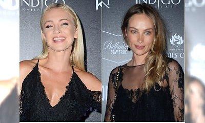 Barbara Kurdej-Szatan i Weronika Książkiewicz w seksownych czarnych koronkach. Która lepiej?