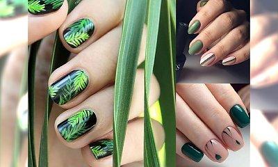 Zieleń na paznokciach - modne, soczyste zdobienia manicure na lato!