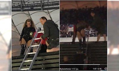 Wpadka na koncercie Beyonce. Gwiazda musiała schodzić ze sceny po drabinie!
