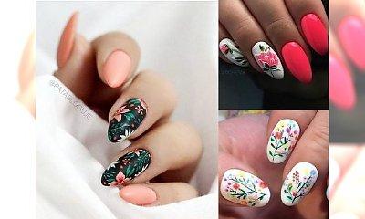 Kwiatowe zdobienia na paznokciach - top 25 wzorków!