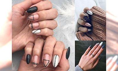 Geometryczny manicure 2018/2019 - galeria stylowych propozycji
