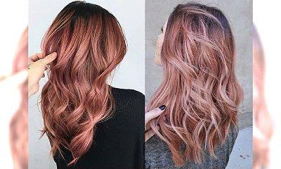 Rose gold - stylowa koloryzacja włosów dla blondynek i szatynek