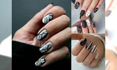 Czarno-biały manicure to prawdziwy hit - galeria modnych stylizacji