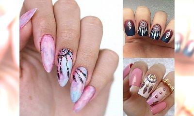 Feather manicure - prześliczny motyw piórka w stylizacji paznokci! [GALERIA]